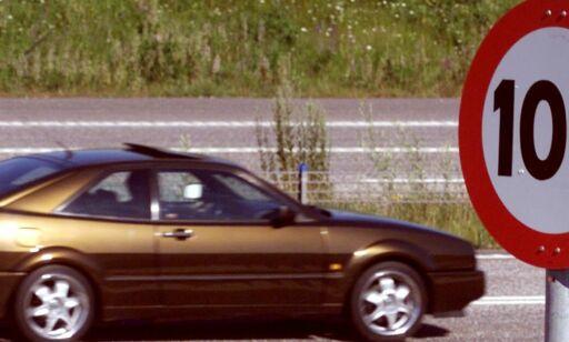 image: Nå er øvre fartsgrense 110 km i timen. Det kan snart bli endret