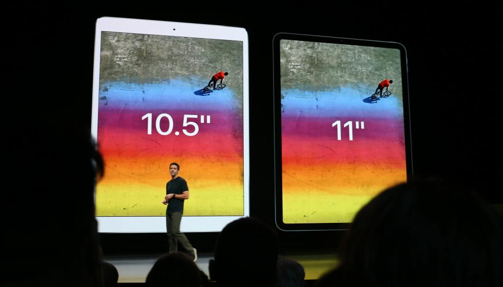 """SMAL RAMME: Nye iPad Pro 11"""" er like stor som fjorårets 10,5-modell. Foto: Kirsti Østvang"""