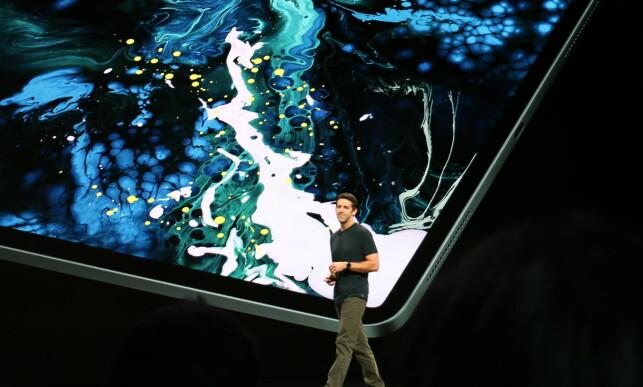 IPAD PRO: Her er nye iPad Pro med syltynn ramme og Face ID. Foto: Kirsti Østvang