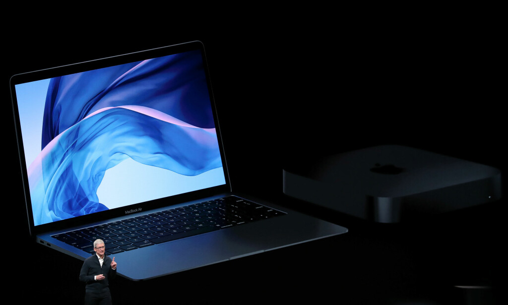 MAC-LANSERING: Apple lanserte en ny MacBook Air og Mac mini. Foto: REUTERS/Shannon Stapleton