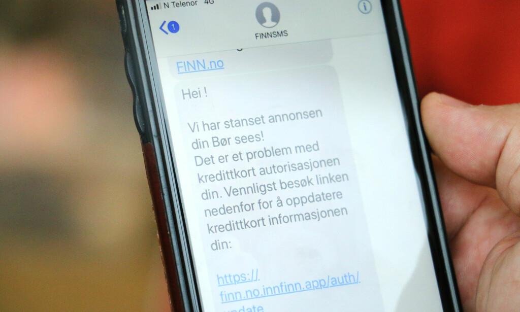 IKKE FRA FINN: Svindlere forsøker å lure nordmenn på Finn. Foto: Kirsti Østvang