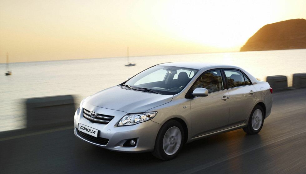 TILBAKEKALLES: Toyota Corolla (2007) er én av bilmodellene som skal ha problemer med airbagen. Foto: Toyota
