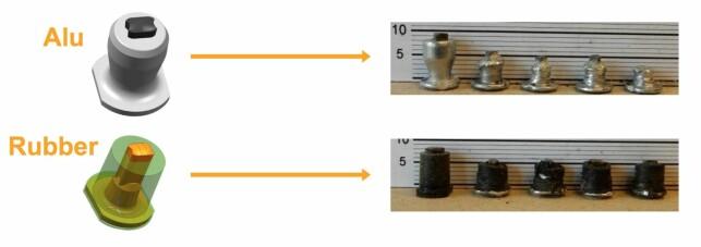 HOLDER LENGER? Den nederste piggen, med gummistamme rundt metallet, skal gi piggen og dekkene lengre levetid. Grafikk: Continental