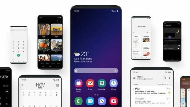ONE UI: Slik kommer fremtidige Samsung-telefoner til å se ut når du bruker dem. Foto: Samsung
