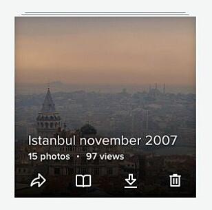LAST NED ALBUM: Ved å trykke på nedlastingsikonet på et album, kan du laste ned alle bilder i albuet i ei zip-fil. Skjermbilde: Pål Joakim Pollen