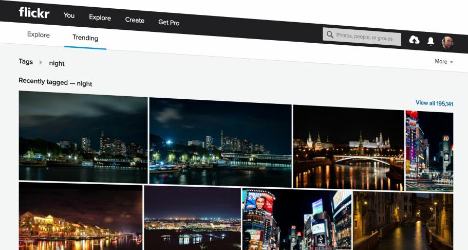 POPULÆR: Flickr har i mange år vært blant de mest brukte fototjenestene på nett, men nå har gratisbrukerne fått en kjedelig beskjed. Skjermbilde: Pål Joakim Pollen