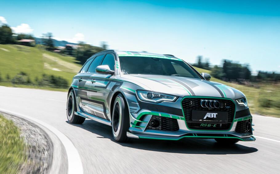 RÅSKINN: Tuningselskapet Abt Sportline sparer ikke akkurat på kruttet når de lager hybridbil av Audi RS6. Foto: Abt
