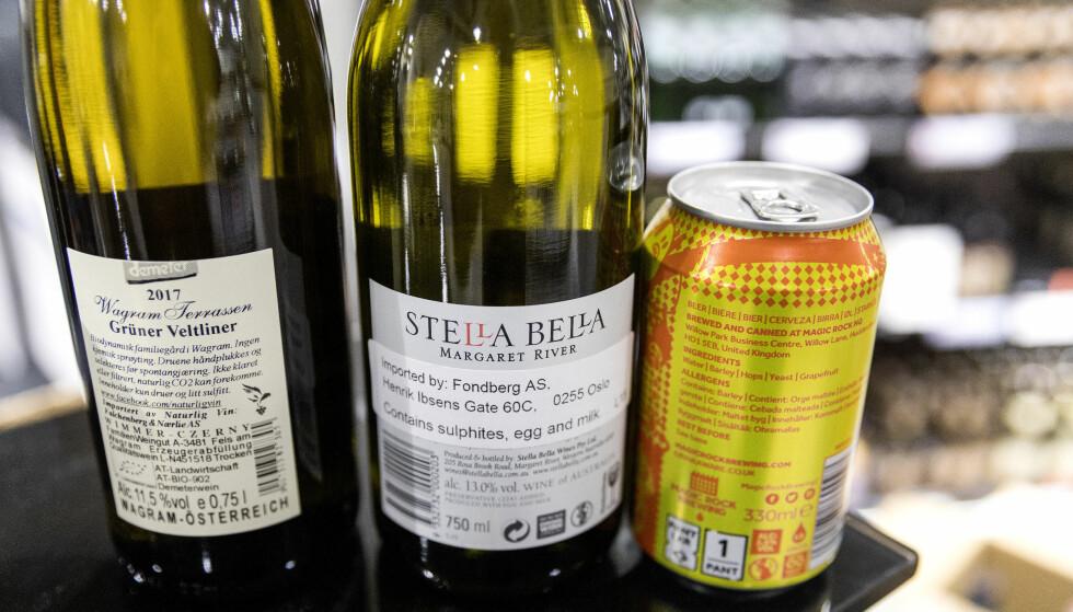 <strong>ØNSKER MERKING AV AKOHOL:</strong> Et flertall i helse- og omsorgskomiteen støtter et KrF-forslag om å merke alkohol i Norge med innhold og helseadvarsel. Det vil også seks av ti voksne ha. Foto: Gorm Kallestad/ NTB scanpix