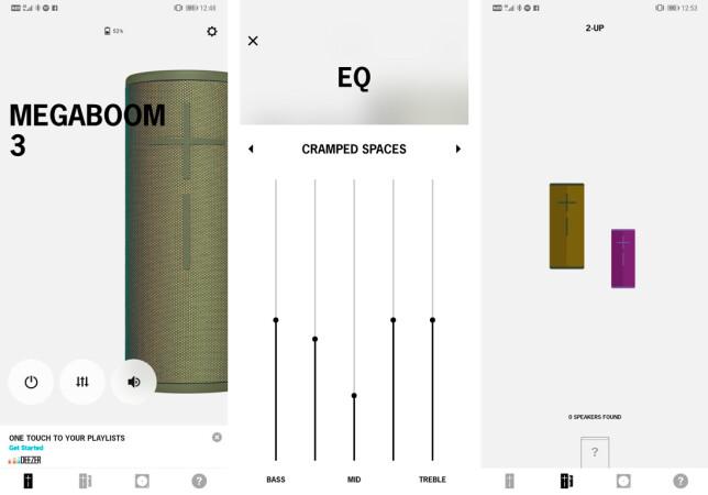 Boom-appen gir deg mulighet til å spille samme lyd fra flere høyttalere, og du kan justere equalizerinnstillinger og slå på høyttaleren direkte – uten å berøre den fysisk. Foto: Pål Joakim Pollen