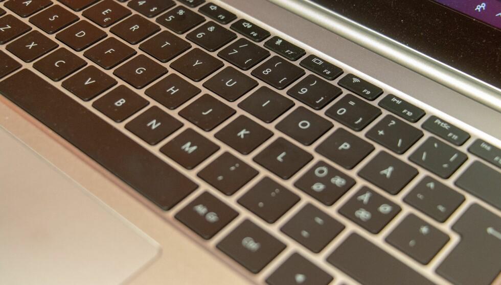 Tastaturet er vi ganske fornøyd med. Foto: Martin Kynningsrud Størbu