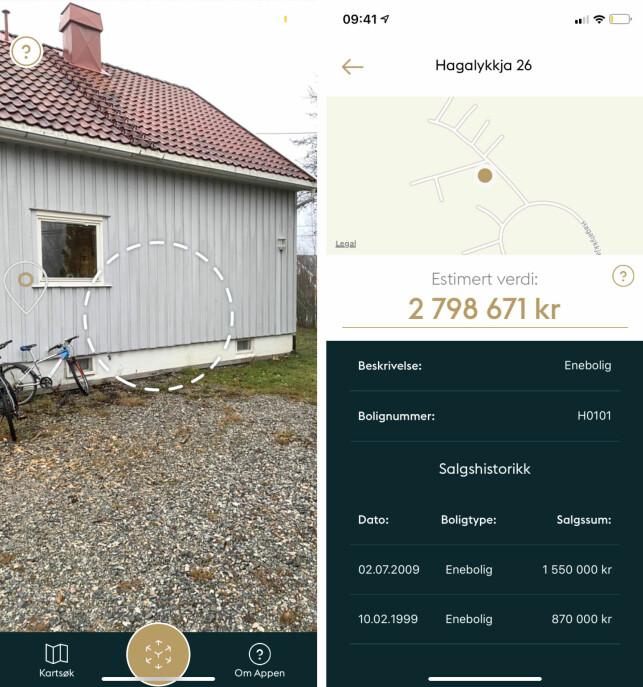IKKE TIL SALGS: Her er estimert verdi på en tilfeldig enebolig på Eidsvoll, basert på tidligere salgshistorikk og prishistorikk i området. Foto: skjermdump.
