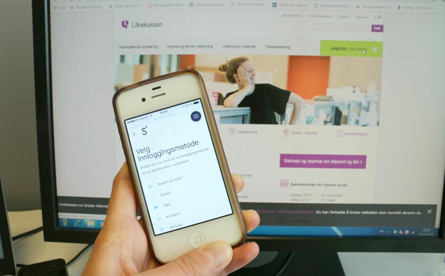 PÅ ETT STED: Flere kunder hos Sbanken kan nå se studielånet sitt i mobilbanken som del av et pilotprosjekt banken har med Lånekassen. Foto: Eilin Lindvoll.