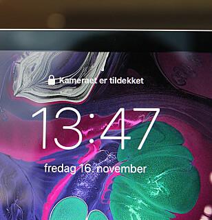 SIER I FRA: De eneste gangene Face ID ikke har funket på nye iPad Pro, er når vi har holdt hånden over kameraet. Foto: Kirsti Østvang