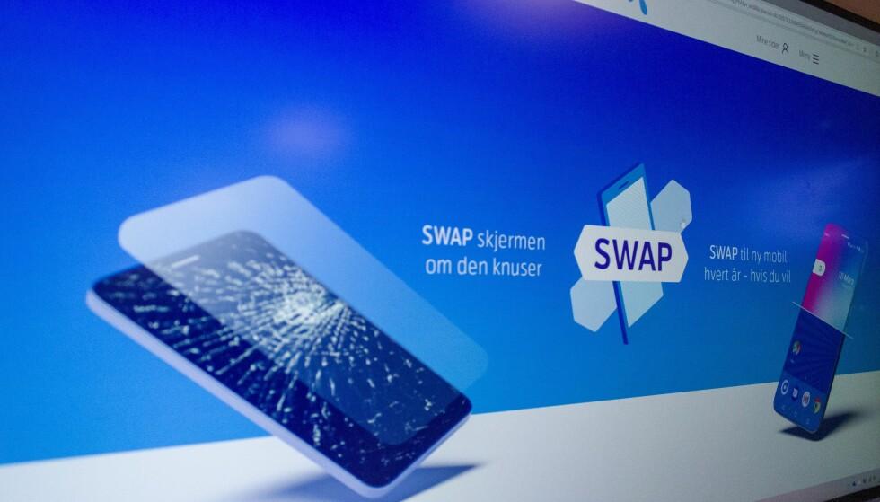 TELENOR SWAP: Fra nyttår øker prisen for Plussforsikring for Swap fra Telenor. Foto: Martin Kynningsrud Størbu