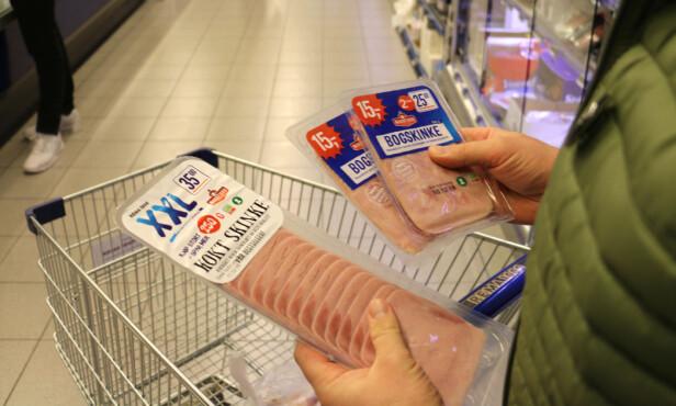 VALGETS KVAL: Hvilken skinkepakke lønner det seg å velge? Foto: Eilin Lindvoll.