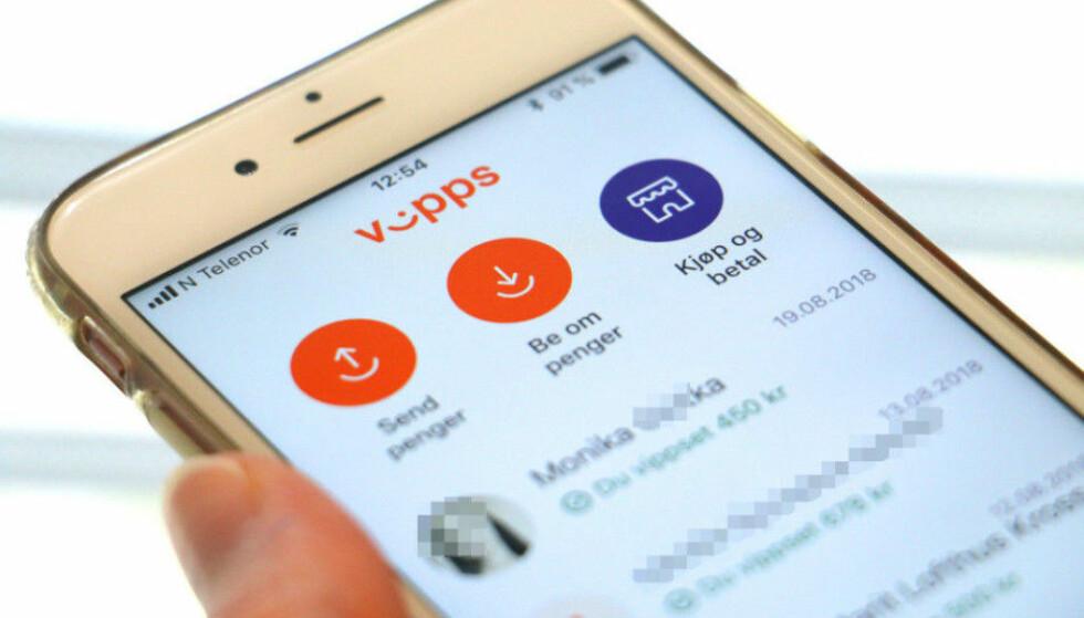 NY FUNKSJON: I siste utgave av Vipps-appen har nå noen av brukerne fått mulighet til å sjekke saldoen sin. Foto: Kristin Sørdal