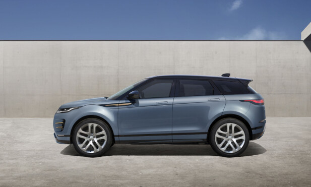 FORTSATT KOMPAKT: Med sine 437 centimeter er Range Rover Evoque minst blant premium-SUV-ene. Foto: Land Rover