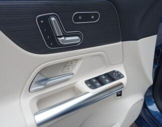 KVALITET: Mercedes-følelsen har med detaljarbeidet å gjøre, som her i førerdøren. Foto: Knut Moberg