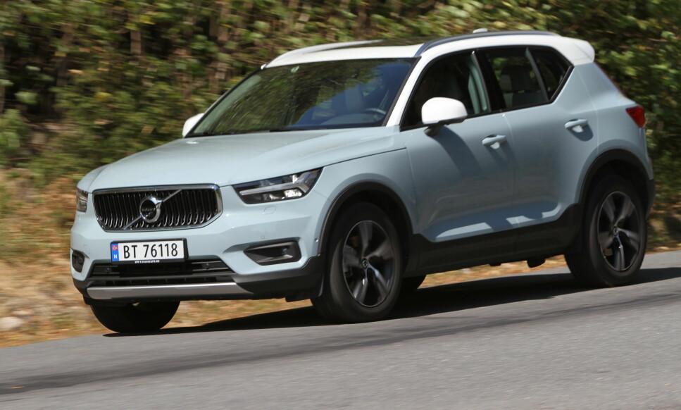 SLUTT: Nå kan man ikke lenger kjøpe ny Volvo XC40 med dieselmotor, om ikke du får tak i én av de få som står igjen hos norske forhandlere. Foto: Dinside
