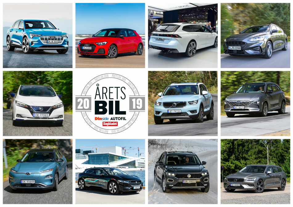 ÅRETS BIL: Denne uka avgjøres hvilken av disse elleve som stikker av med seieren i Årets bil 2019.