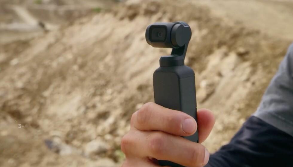NYTT ACTIONKAMERA: Med DJI Osmo Pocket går DJI rett i strupen på GoPro. Foto: DJI