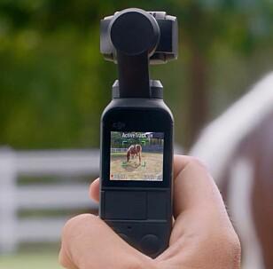SPORING: Med ActiveTrack-funksjonen kan kameraet automatisk følge motivet du merker av på skjermen. Foto: DJI