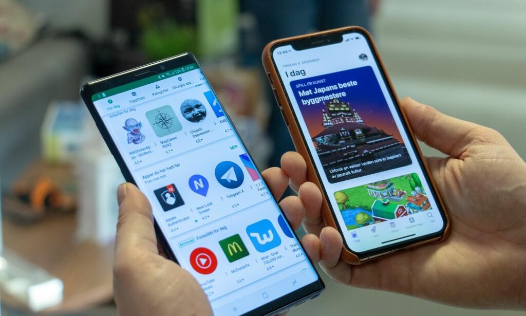 ÅRETS APPER: Google og Apple kårer de beste appene og spillene i Play Store og App Store. Foto: Martin Kynningsrud Størbu.