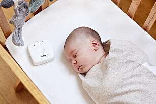 SMART-SVØPETEPPE: Hugsy har en hjerteslag-modul som kan simulere mors egne hjerteslag. Foto: Produsent