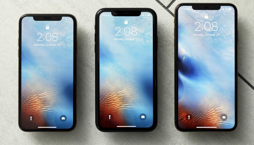 RYKTENE SVIRRER ALLEREDE: I september 2018 lanserte Apple iPhone Xs, Xs Max og Xr, men nå har teknoverden begynt å se videre på etterfølgerne. Foto: Richard Drew/AP Photo/NTB Scanpix