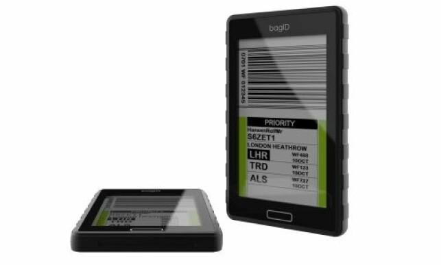 bagID viser samme informasjon som på de tradisjonelle bagasjelappene. Foto: bagID