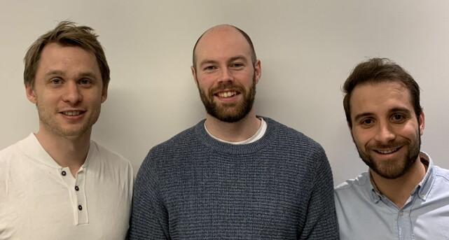 De tre norske gründerne i bagID. Fra venstre: Øystein Tvedt, Øystein Aarsæther og Jan Vidar Nalbant. Foto: Widerøe