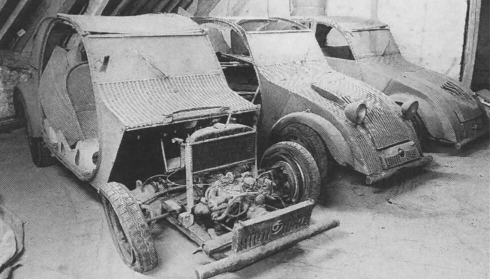 FANTASTISK FUNN: I 1994 ble disse tre prototypene funnet på et loft i Frankrike. Foto: Paal Kvamme