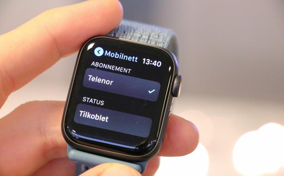 ENDELIG: Nå kan også nordmenn bruke Apple Watch med mobilabonnementet sitt. Foto: Kirsti Østvang