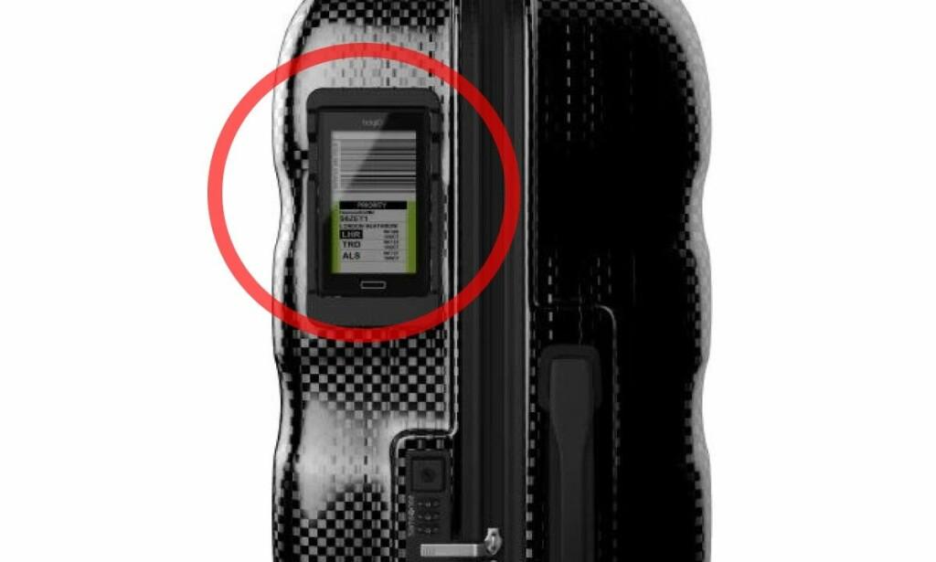 SMART OG DIGITAL LAPP: bagID vil erstatte den tradisjonelle bagasjelappen ved flyreiser. Foto: bagID
