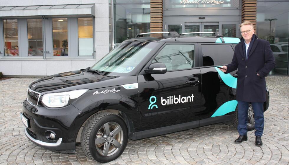 BILIBLANT: Bjørn Maarud, konserndirektør i Bertel O- Steen , i forbindelse med lanseringen av Biliblant. Foto: Bertel O. Steen