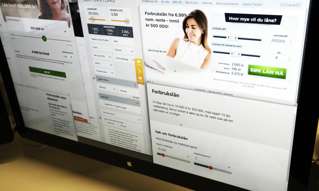KREDITTKORT TIL UNGE: DNB har innført det de selv kaller en «streng policy» ved salg av kredittkort og forbrukslån. Foto: Erik Johansen/NTB Scanpix