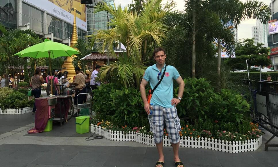 THAILAND-TURIST: Odd Steinar Rotlid og familien er på flere reiser i Thailand i året, og nå har han en bekymring mindre på turene. Alle foto: PRIVAT