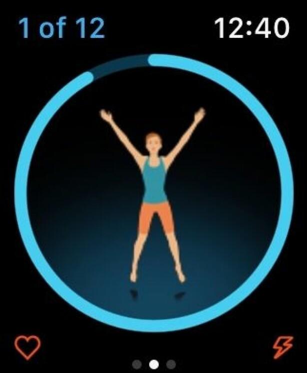 Seven er en personlig trener på Apple Watch. Skjermbilde: Kirsti Østvang