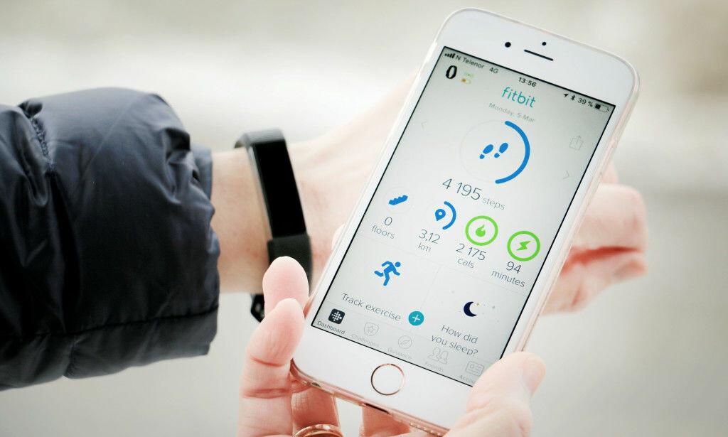 SOLID APP: Vi liker godt Fitbits app, som er eksemplarisk enkel å skjønne. Foto: Ole Petter Baugerød Stokke