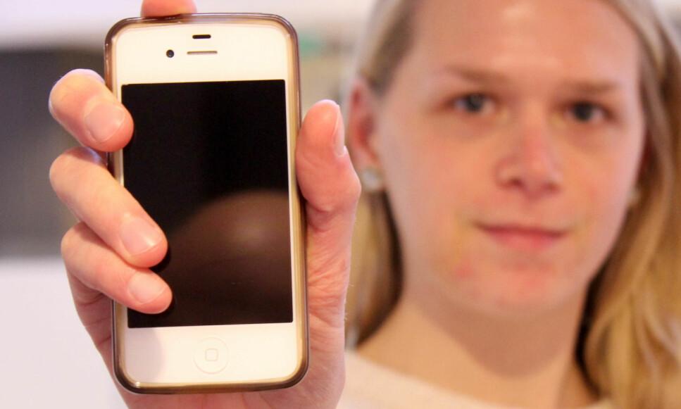 STØTTER IKKE 4G: iPhone 4s er blant smarttelefonene som vil rammes når Telenor starter stengingen av 3G-nettet i januar 2019. Den støtter nemlig ikke 4G-nettet. Foto: Eilin Lindvoll.
