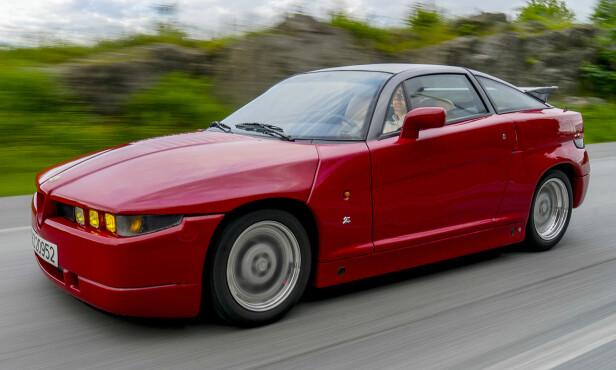 FREKK FRONT: Snerrende  frekk front på Alfa Zagato. Foto: Paal Kvamme