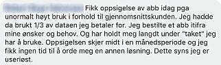 Dette er en av flere som klager på Chilimobil på Facebook. Foto: Skjermdump