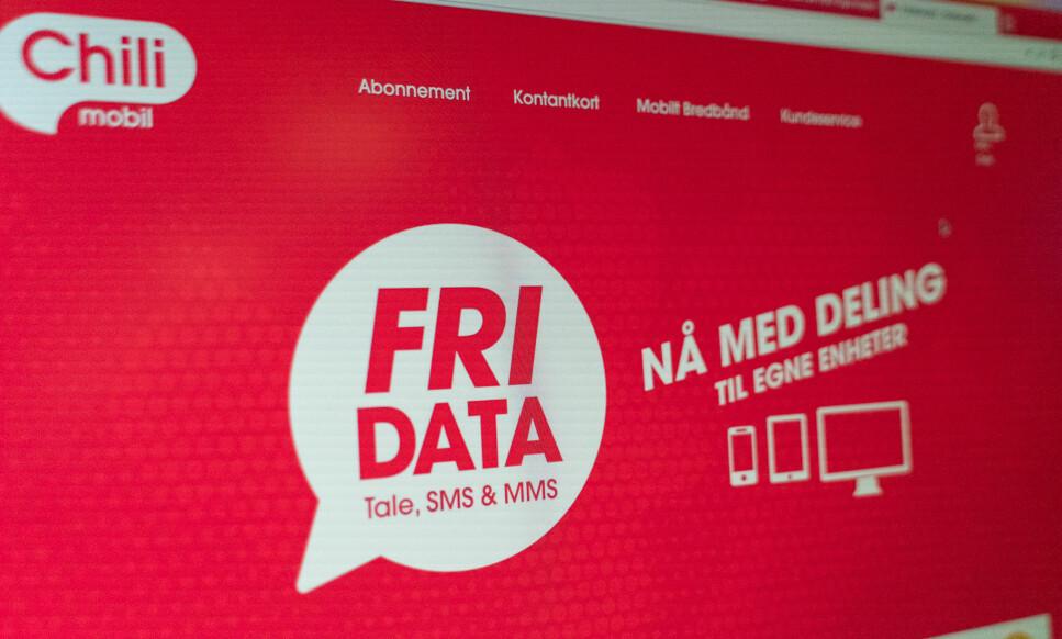 KRITISERES: Chilimobil-kunder klager etter nye mobildatakrav. Foto: Martin Kynningsrud Størbu.