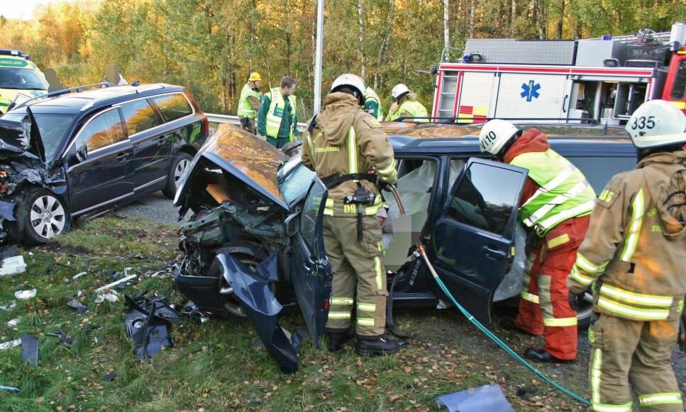 500 DREPT HVER UKE: Hver uke mister 500 mennesker liver i ulykker på europeiske veier - like mange som om to passasjerfly hadde krasjet. Foto: Volvo
