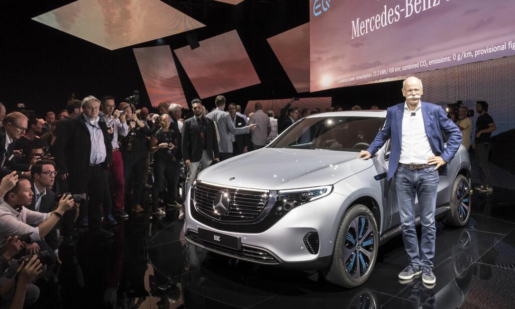 MERCEDES: Elbilen til Mercedes kan trekke henger. Foto: Mercedes