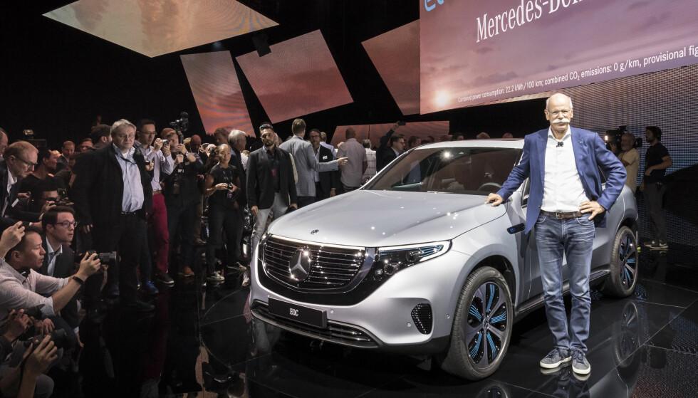 <strong>MERCEDES:</strong> Elbilen til Mercedes kan trekke henger. Foto: Mercedes