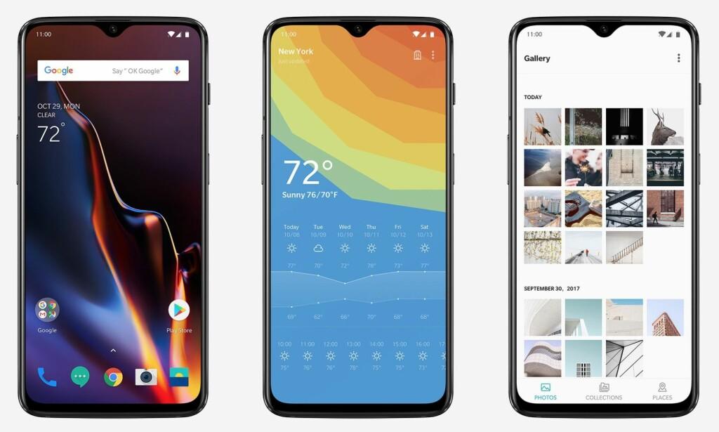 HALVE PRISEN: OnePlus 6T koster under halvparten av iPhone Xs, selv med dobbelt så mye lagringsplass. Foto: Oneplus