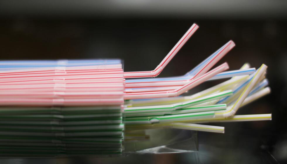 FORBUDT: EU forbyr sugerør og andre engangsartikler av plast. Foto: NTB Scanpix
