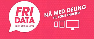 Etter pålegg fra Nkom tillater nå Chilimobil at du med «Fri data»-abonnementet deler data med egne enheter.