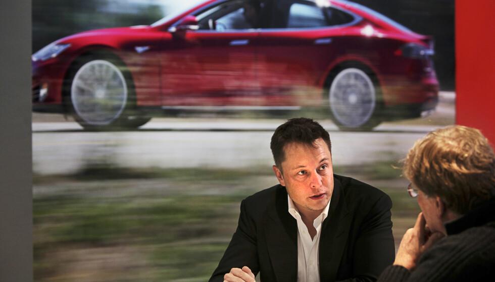 <strong>- IDIOTER:</strong> Elon Musk snakker rett fra levra og er ikke alltid like imponert av konkurrentene. <br>Foto: NTB Scanpix